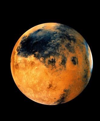 Mars, mosaic of Schiaparelli Hemisphere, satellite view | Earth and Space