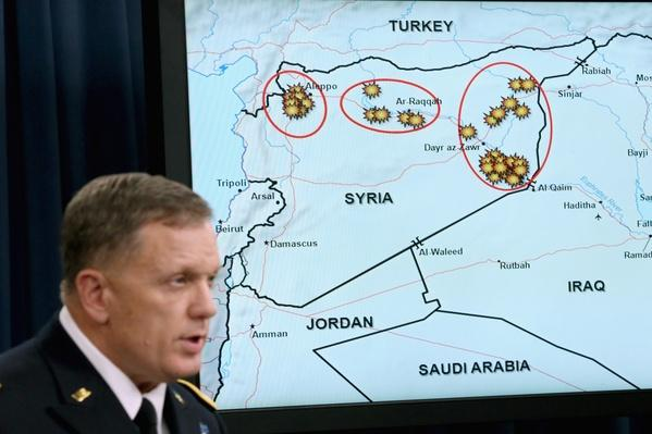 Lt. General Briefs the Media on Strikes against ISIL in Syria | Conflicts: Syria