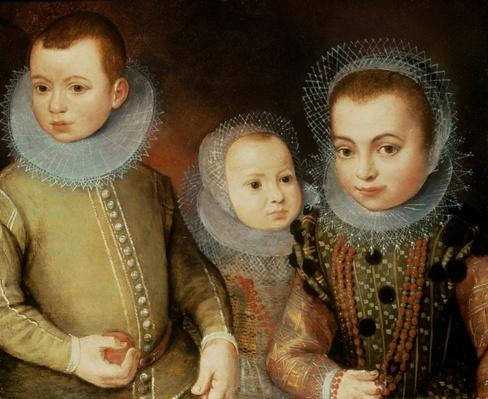 Portrait of Three Tudor Children