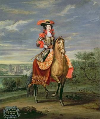 La Comtesse de Soissons Riding with a View of the Chateau de Vincennes