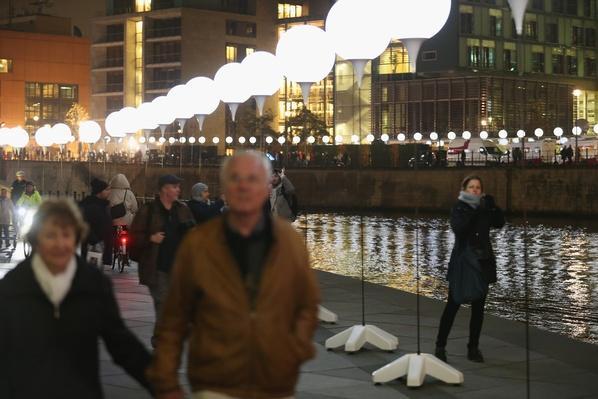 Light Installation Illuminates Former Berlin Wall Route | Berlin Wall | The 20th Century Since 1945: Postwar Politics