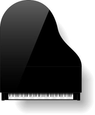 Black grand piano top view | Musical Instruments