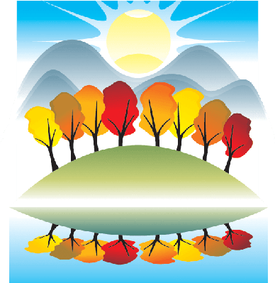 Four Seasons Scenery - Autumn Landscape | Clipart
