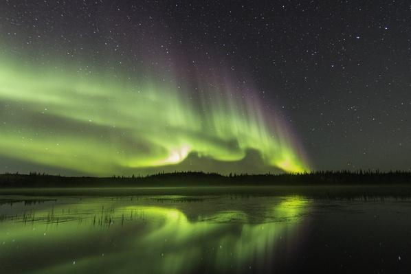 Aurora reflection | Wonders of the World