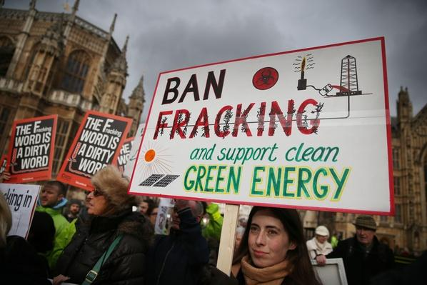 Bianca Jagger Joins Protest Against Fracking | Human Impact on the Physical Environment | Geography