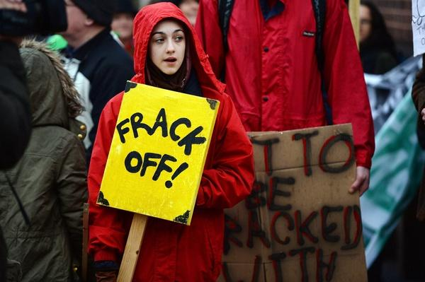 Protest At Against Fracking At Lancashire County Council | Human Impact on the Physical Environment | Geography