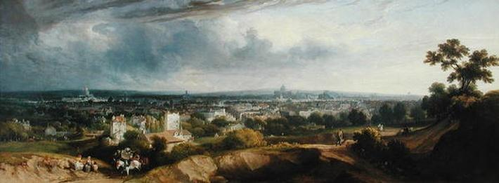View of Paris from Montmartre, 1829