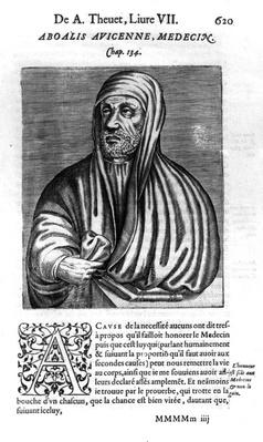 Avicenna, illustration from 'Les vrais pourtraits et vies des hommes illustres' by Andre Thevet, published 1584