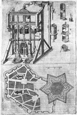 Design for fortification from 'Harmonia in Fortalitiis Construendis, Defendensis & Oppugnandis' by Wendelin Schildknecht, pg120, published 1652