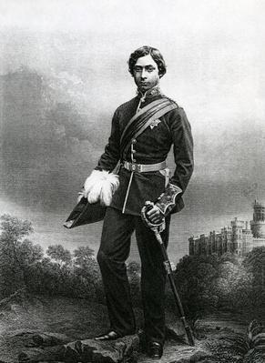 Albert Edward, Prince of Wales, engraved by D.J. Pound from a photograph, from 'The Drawing-Room of Eminent Personages, Volume 2', published in London, 1860