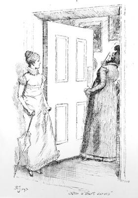 'After a short survey', illustration to 'Pride & Prejudice' by Jane Austen, edition published in 1894