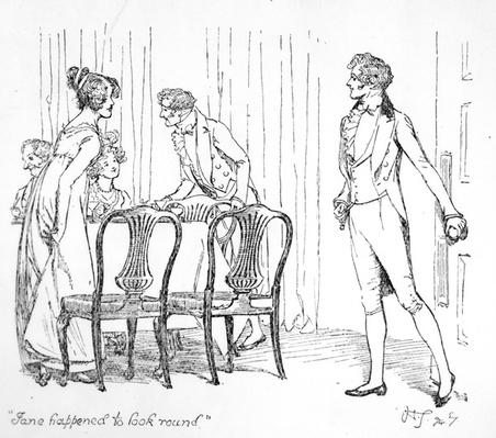 'Jane happened to look round', illustration from 'Pride & Prejudice' by Jane Austen, edition published in 1894
