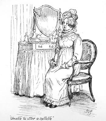'Unable to utter a syllable', illustration to 'Pride and Prejudice' by Jane Austen, edition published in 1894