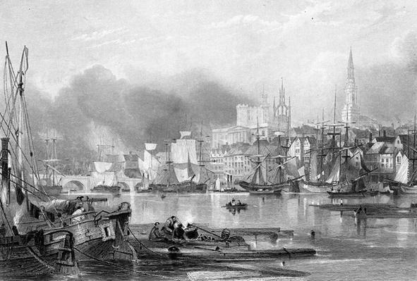 Newcastle-upon-Tyne, engraved by Edward Finden