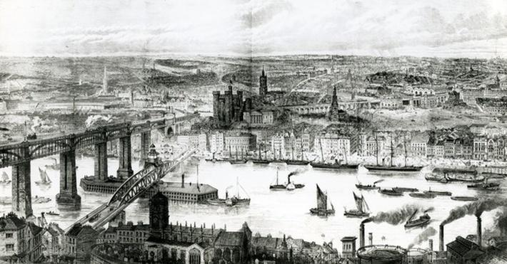 Newcastle upon Tyne, illustration from 'The Illustrated London News', July 16th, 1887