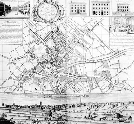 Map of Manchester, 1751