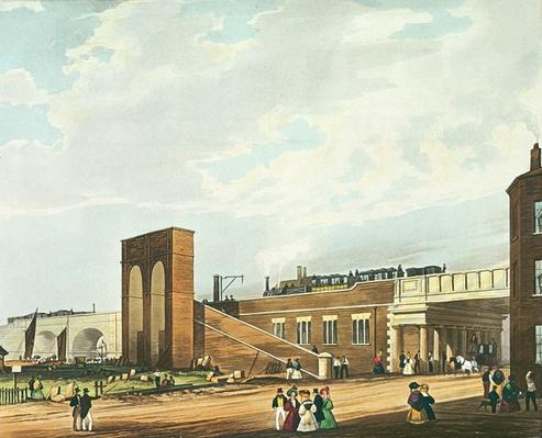 Entrance into Manchester Across Water Street, engraved by Henry Pyall