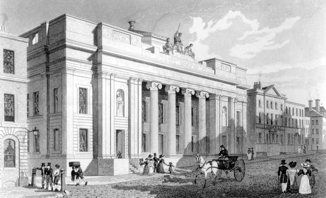 The Town Hall, Manchester, engraved by Richard Winkles, 1829