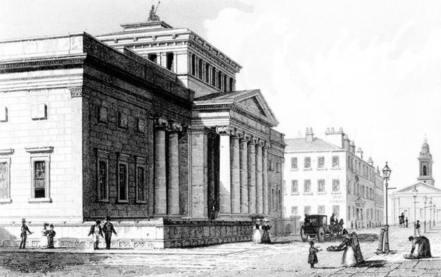 The Royal Institution, Manchester, engraved by Richard Winkles, c.1836