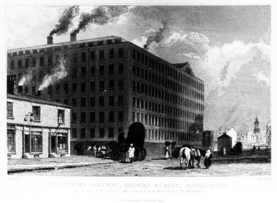The Twist Factory, Oxford Street, Manchester, engraved by John McGahey, 1829