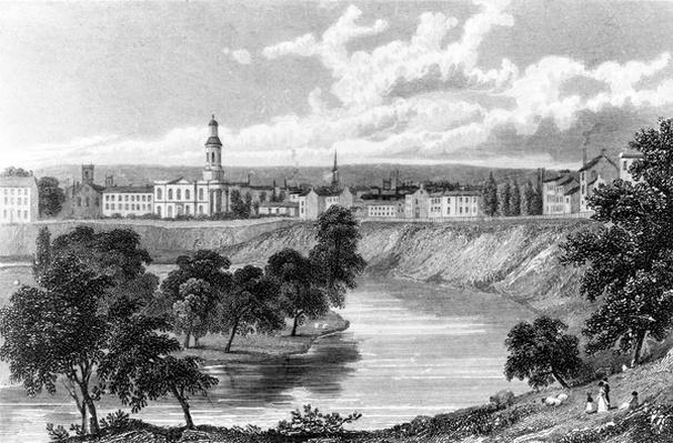 Salford from the Crescent, from 'Great Britain Illustrated', engraved by Edward Francis, 1830