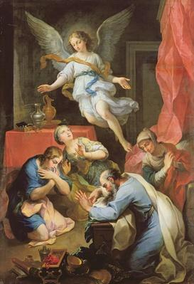 Archangel Raphael makes himself known, 1733