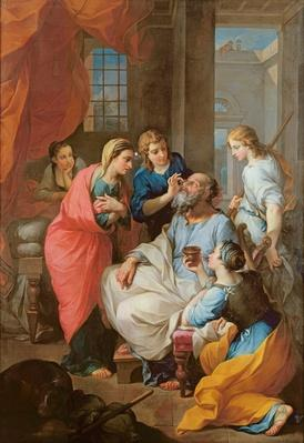 Tobias healing his father's sight, 1733