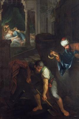Raguel digging a grave, 1733