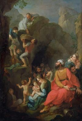 Tobit escaping captivity with his companions, 1733