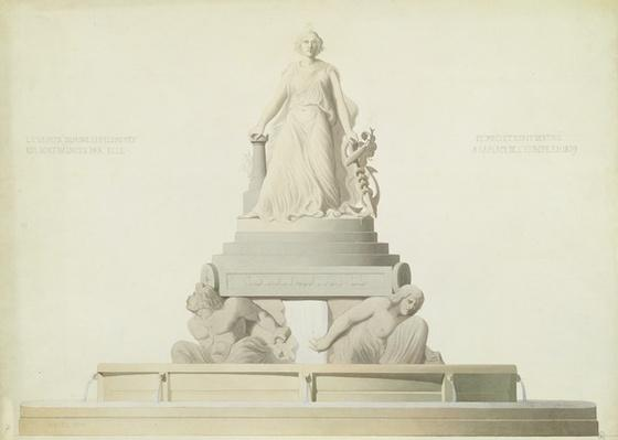 Project for the monument destined for the Place de l'Europe, 1839