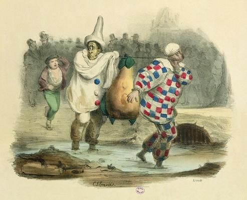 The Juste Milieu dirties itself, caricature on the subject of Louis-Philippe I, c.1850s