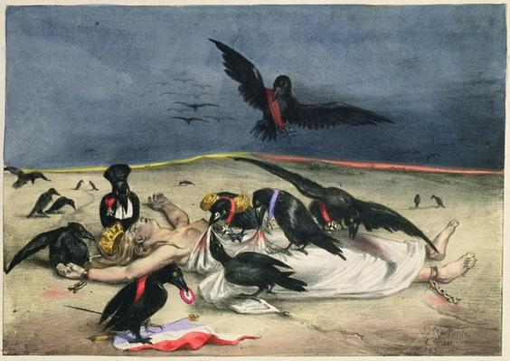 France delivered to crows of all kinds, from 'La Caricature', 31 October 1831