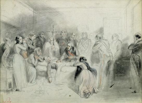 The final moments of the Duke of Orleans after the accident at Neuilly, 13th July 1842
