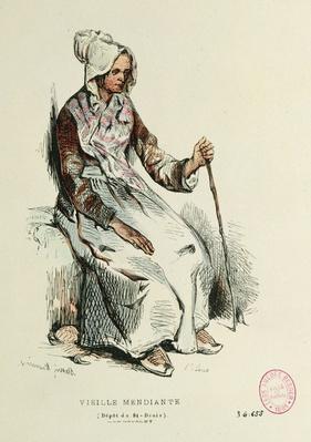 Old beggarwoman