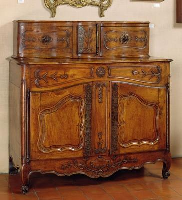 Provencal style glazed sideboard or dresser, Arles