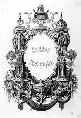Frontispiece from 'Cuisine Classique' by Urbain Dubois and Emile Bernard, edition published 1899