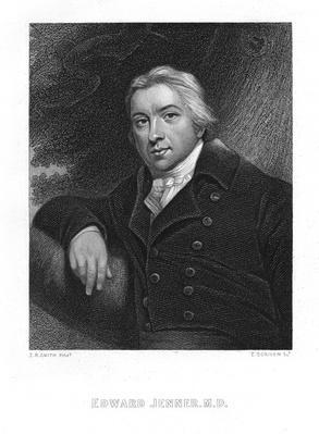 Edward Jenner, engraved by E. Scriven