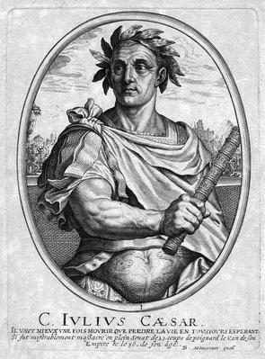 Julius Ceasar, engraved by Baltazar Moncornet