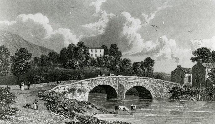 Greta Hall and Keswick Bridge, engraved by E. Francis, 1842