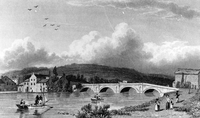 Strammongate Bridge, Kendal, engraved by E. Finden, 1830
