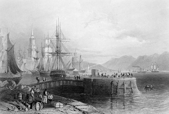 Port Glasgow, engraved by J.W. Appleton, 1841