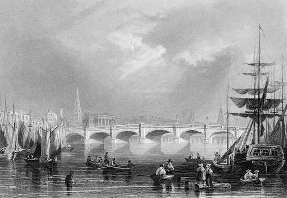 New Bridge and Broomielaw, Glasgow, c.1840