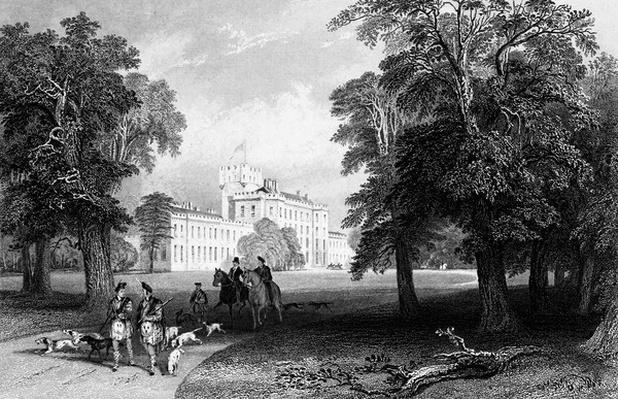 Castle Gordon, engraved by Robert Sands, 1837