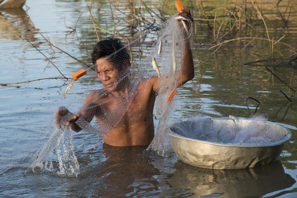 Fisherman, Mekong River, Cambodia | Earth's Resources