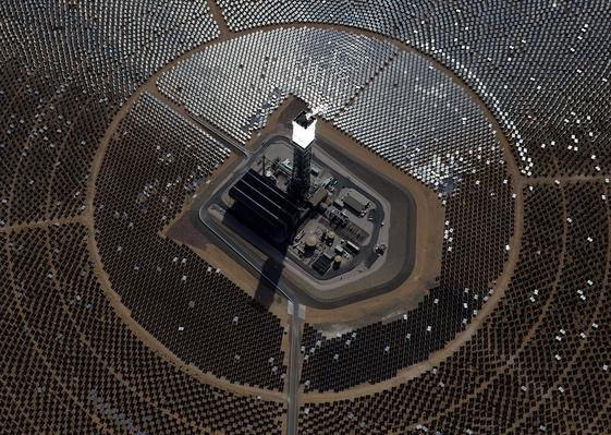 Massive Solar Electricity Plant - Aerial View | Earth's Resources