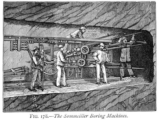 Sommeiller Boring Machine | Industrial Revolution