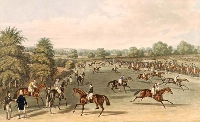 Epsom: preparing to start, 1830