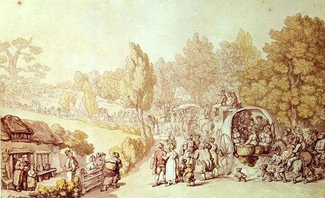 Road to Epsom, 1812