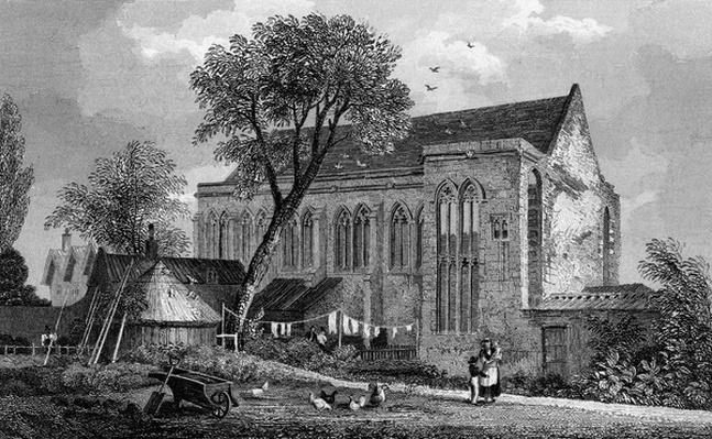 Eltham Palace, Kent, engraved by William Watkins, 1831