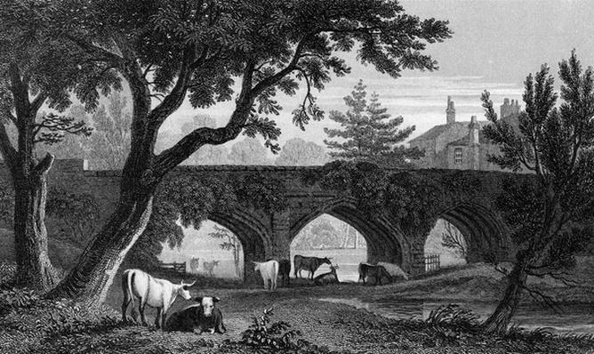 Eltham Bridge, Kent, engraved by Henry Adlard, 1832
